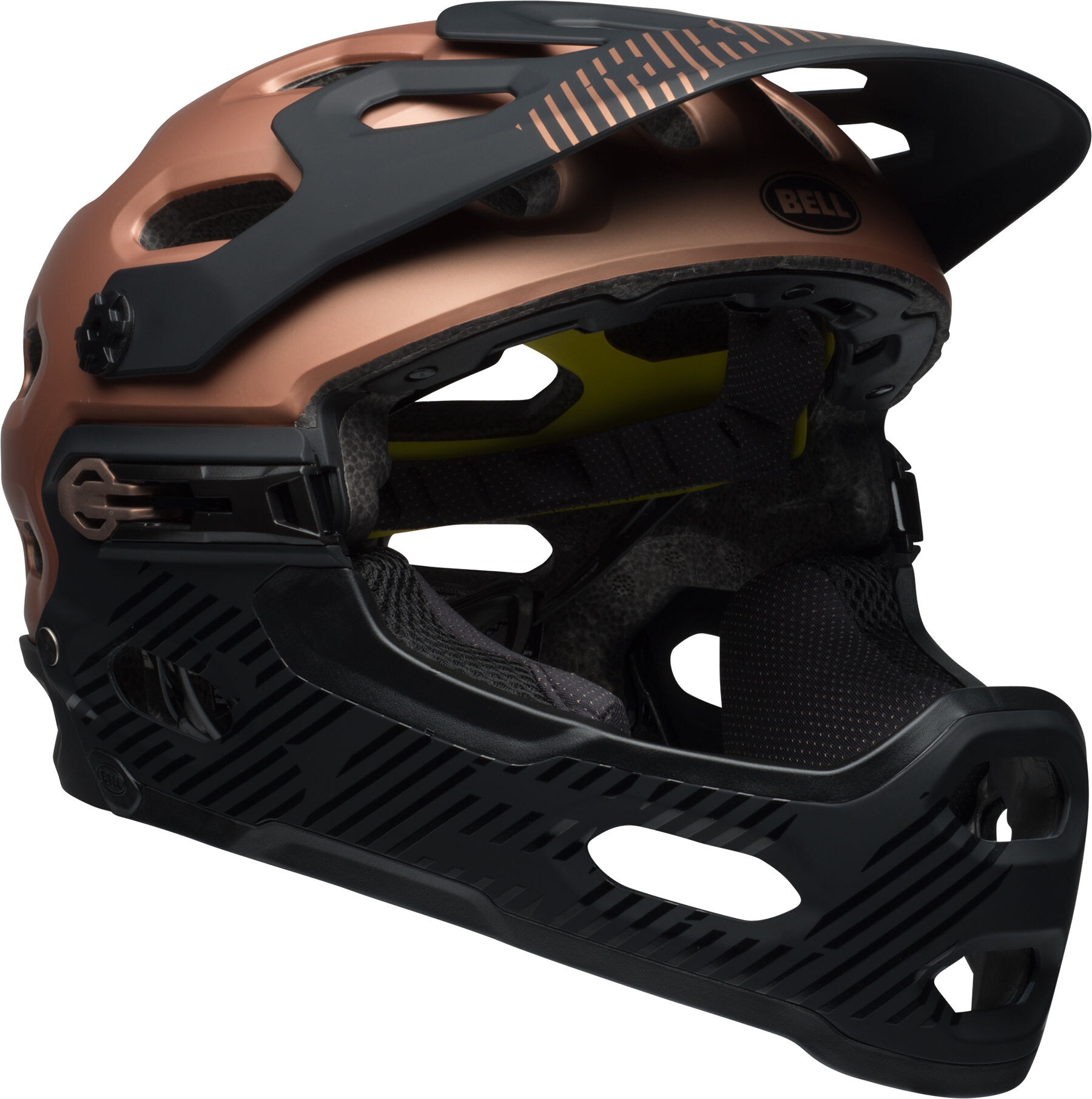 bell super 3r mips mtb helmet matte copper black online kaufen. Black Bedroom Furniture Sets. Home Design Ideas